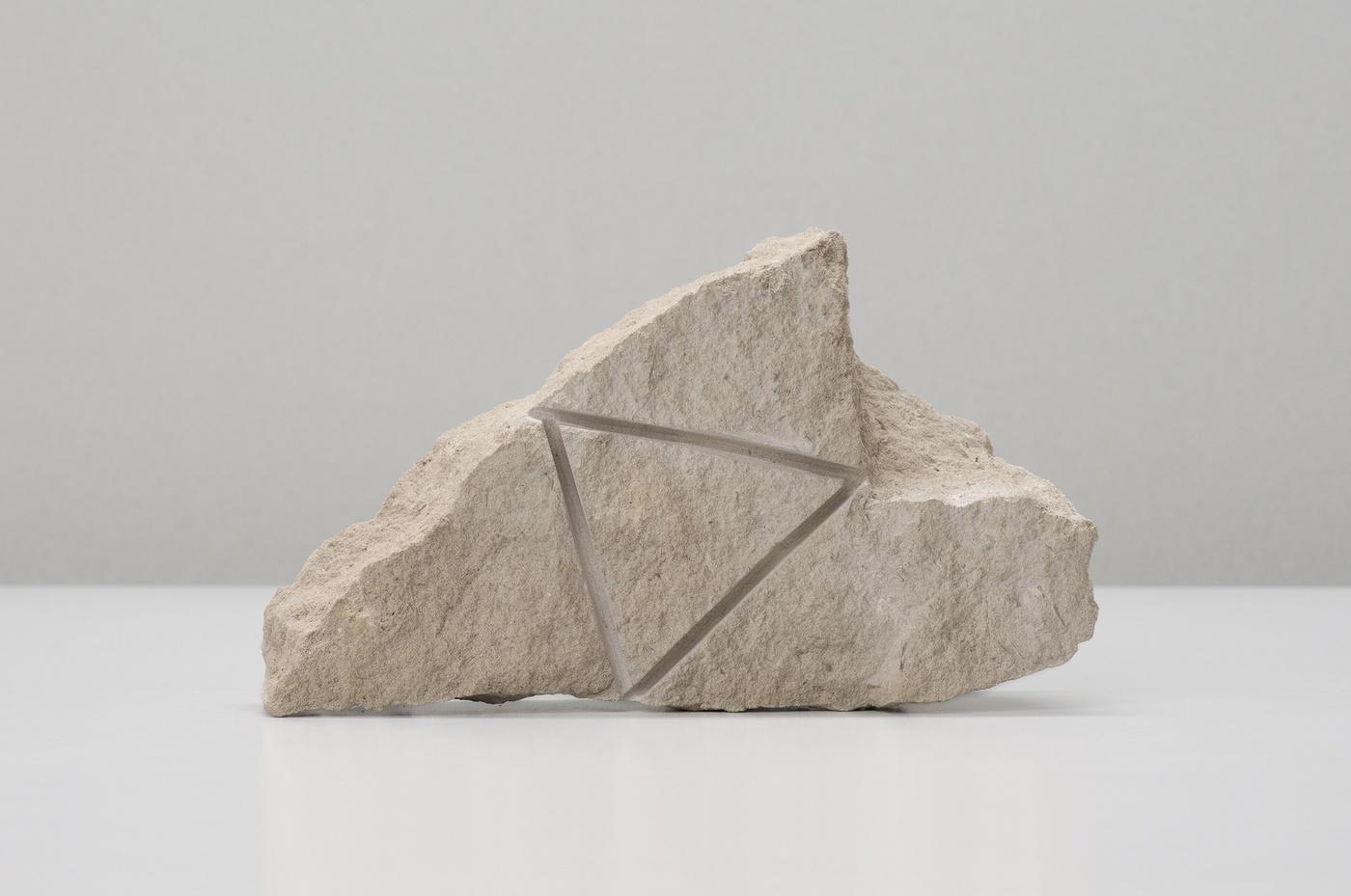 Stone carving, 1973, limestone, 3 1/2 x 11 3/8 x 6 3/4 in / 8.9 x 29 x 17 cm