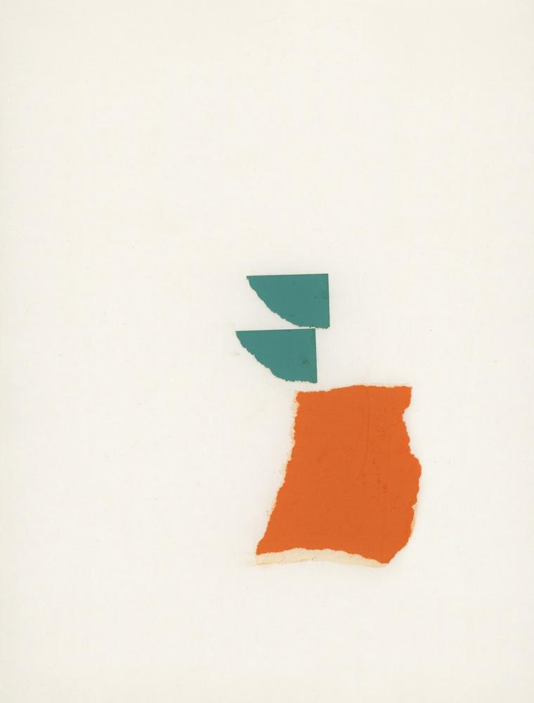 june '68, 1968, paper collage, 10 1/4 x 7 7/8 in / 26 x 20 cm