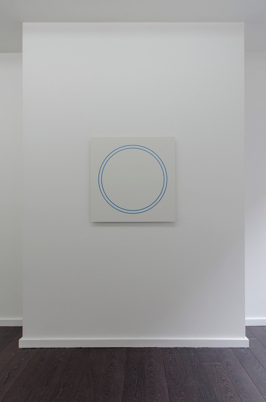 Winston Roeth, Blue Circle Painting, 2006. Pigments and polyurethane on dibond panel 76.2 x 76.2 cm