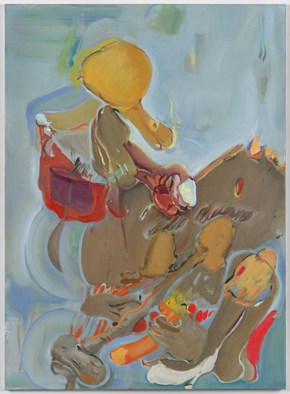Stefanie Heinze, When Ripe (Super-Care), 2017, oil and acrylic on canvas, 110 x 80 cm, 43.3 x 31.5 in. Private Collection. Courtesy Pippy Houldsworth Gallery, London