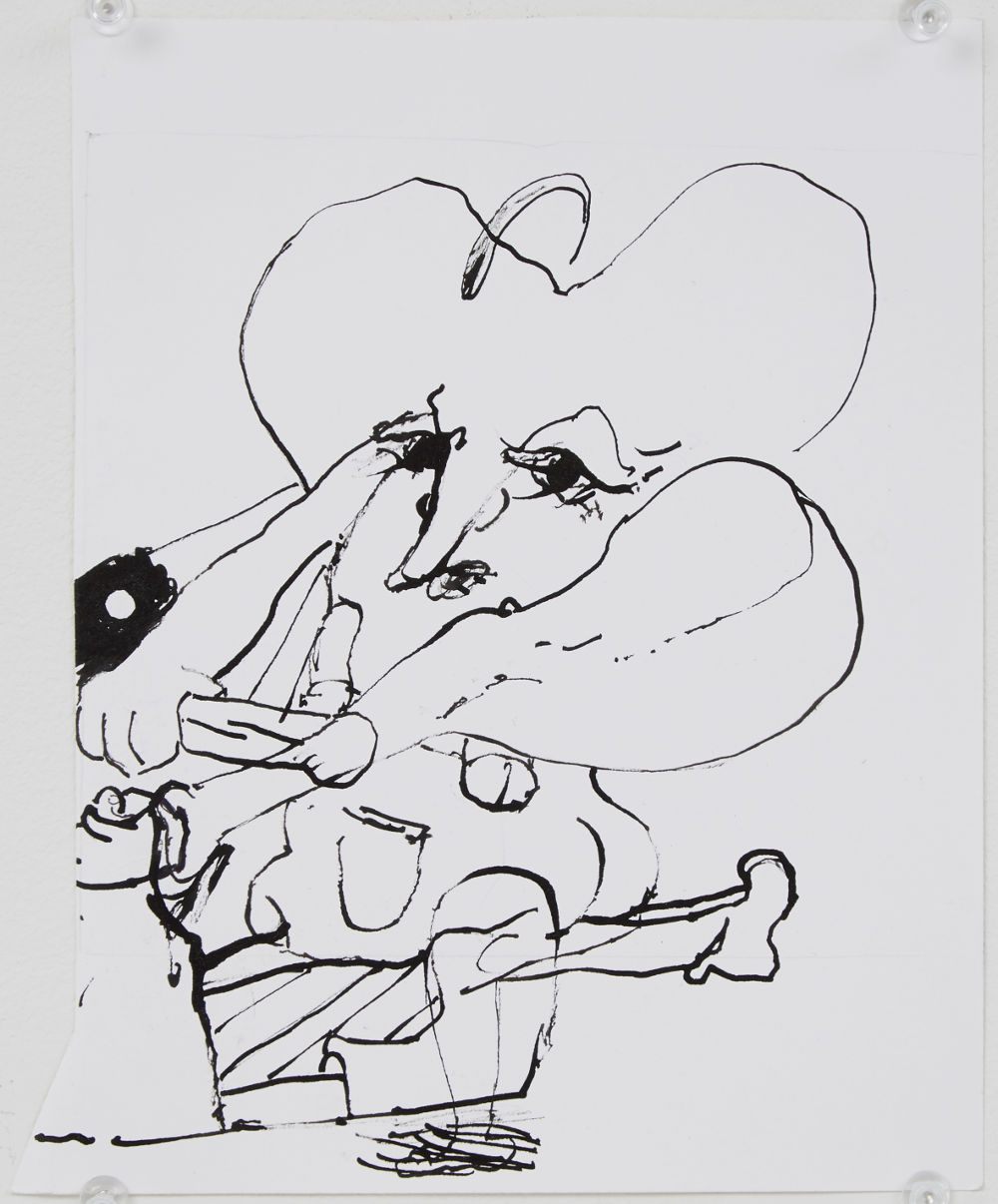 Stefanie Heinze, Untitled (How to Go On), 2014, ink on paper, 21.3 x 17.8 cm, 8.4 x 7 in. Courtesy Pippy Houldsworth Gallery, London. Copyright the artist.