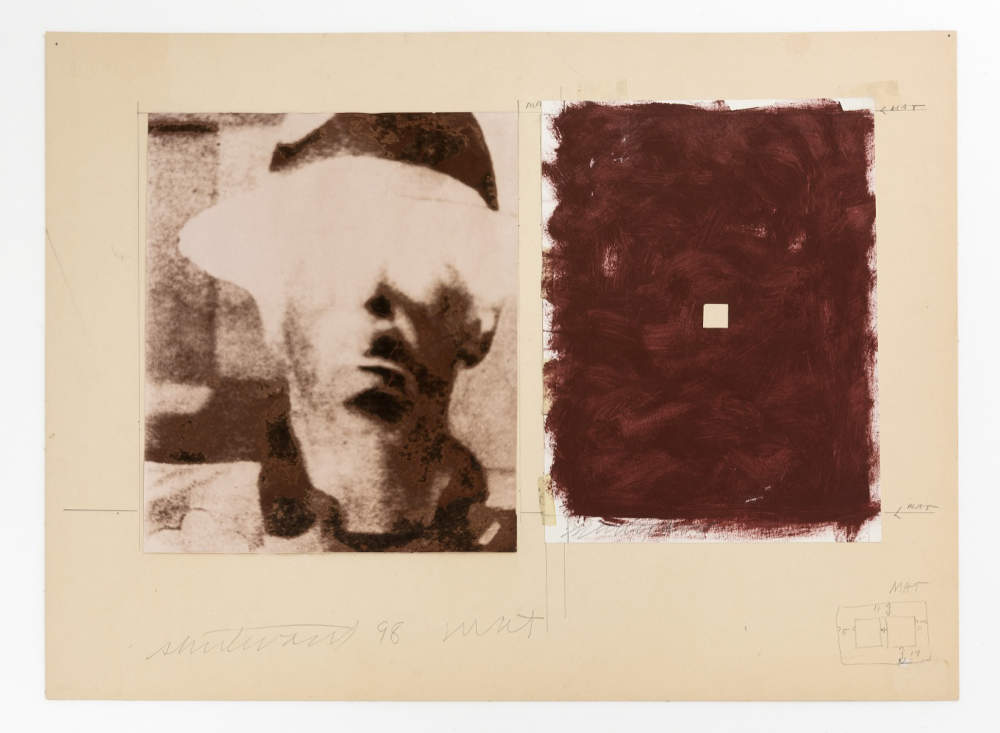 Sturtevant, Beuys Untitled. Copper dyed photography and paint on paper 30 x 51 cm (11,81 x 20,08 in) 57 x 76 cm (22,44 x 29,92 in)