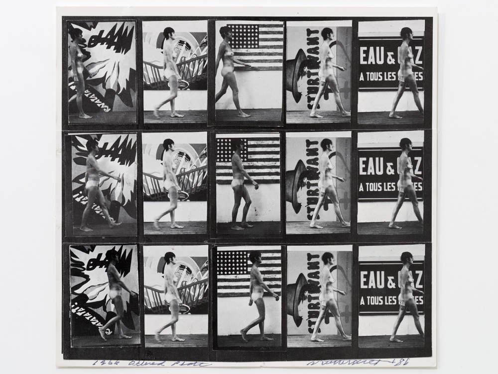 Sturtevant, Muybridge Plate #97 Woman Walking. Print, collage 21 x 21,5 cm (8,27 x 8,46 in) 32,5 x 32,8 cm (12,8 x 12,91 in)