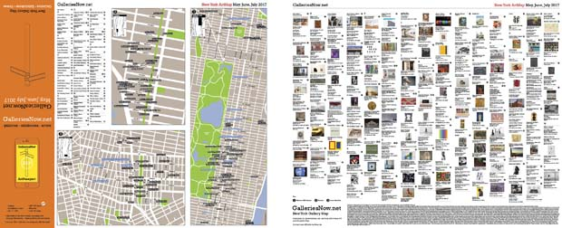 GalleriesNow releases bumper edition of their New York Gallery Map on