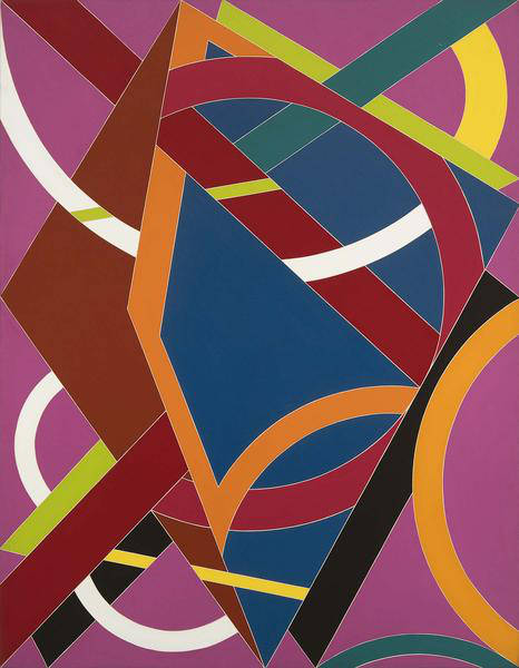 William T. Williams (b.1942), Trane Meets Jug, 1970-71. Acrylic on canvas 108 x 84, signed and dated