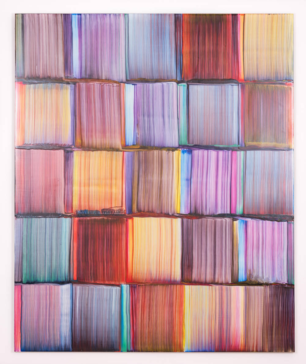 Bernard Frize, Houle, 2017. Acrylic and resin on canvas 173 x 145 cm (68 1/8 x 57 1/8 in.)