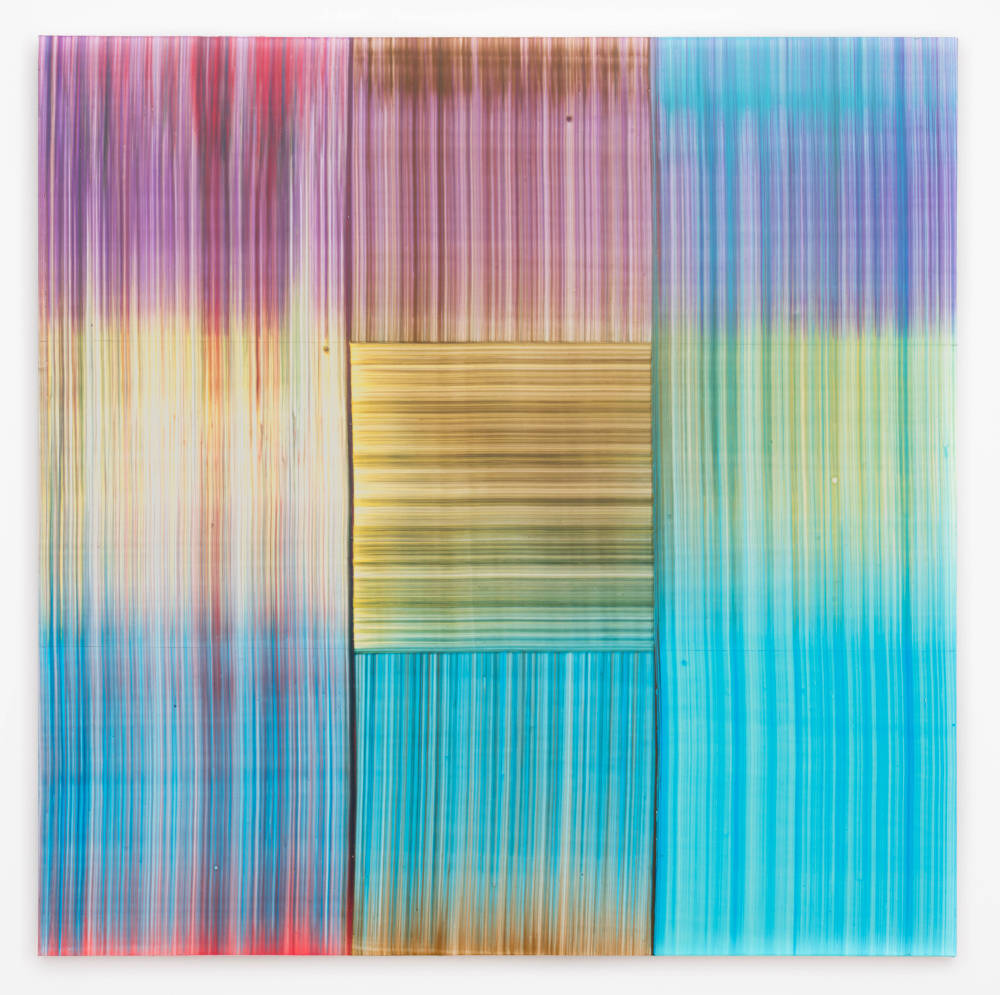 Bernard Frize, Kepi, 2017. Acrylic and resin on canvas 90 x 90 cm (35 3/8 x 35 3/8 in.)
