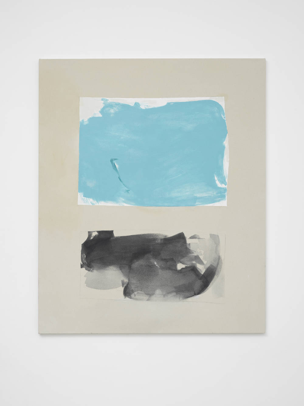 Peter Joseph, Turquoise and Black 2nd Version, 2015. Acrylic on cotton duck 46 x 38 inches (116.8 x 96.5 cm) © Peter Joseph; Courtesy Lisson Gallery. Photo by Jack Hems