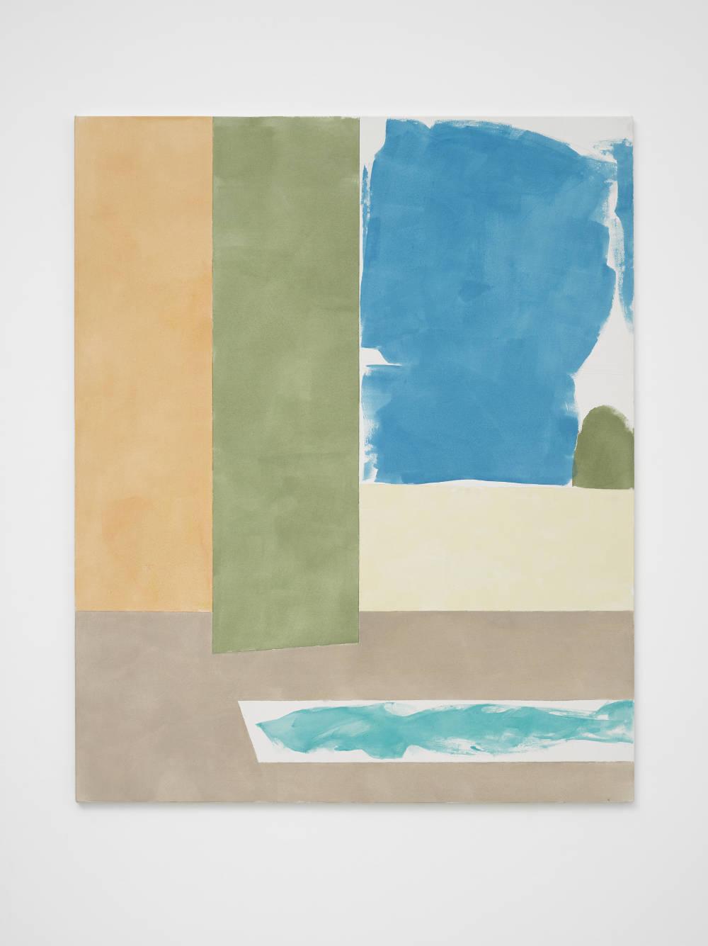 Peter Joseph, Light Orange, Green, Blue, Lemon, Mushroom, Turquoise, 2016. 54 x 44 inches (137.2 x 111.8 cm) © Peter Joseph; Courtesy Lisson Gallery. Photo by Jack Hems