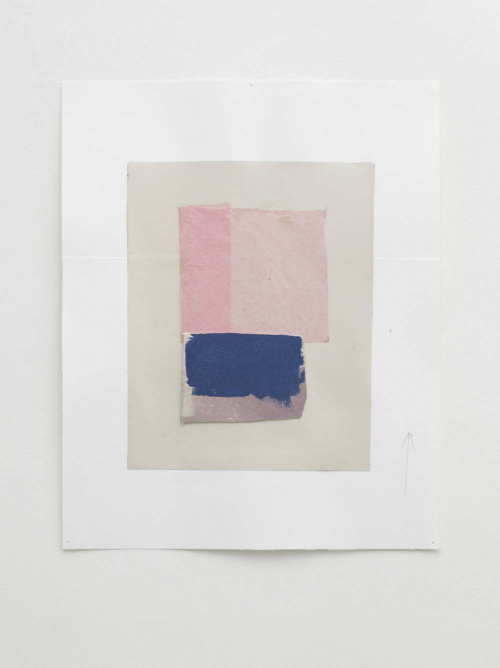 Peter Joseph, Untitled Study, April 2017, 2017. Collage on paper 17 3/8 x 13 3/4 inches (44 x 35 cm) © Peter Joseph; Courtesy Lisson Gallery. Photo by Jack Hems