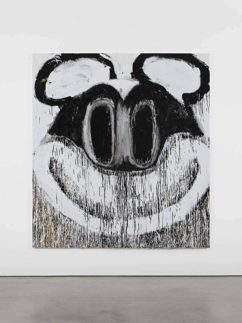 Joyce Pensato, Here's Mickey, 2017 © Joyce Pensato; Courtesy Lisson Gallery