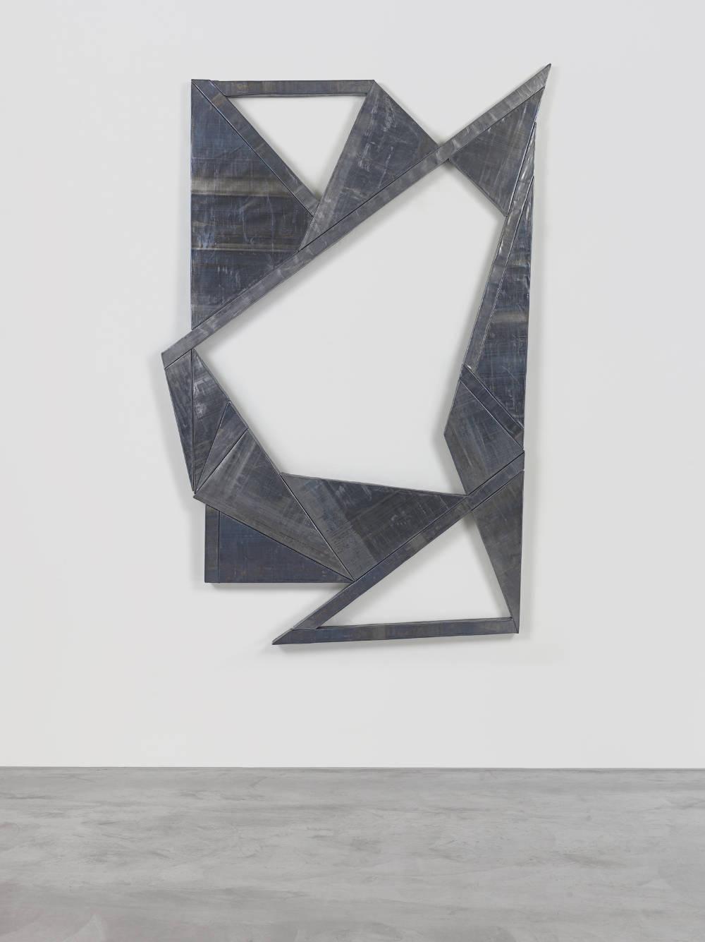 WYATT KAHN, Untitled, 2016. Lead on panel 218.5 x 157.5 cm / 86 x 62 inches