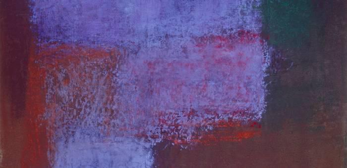 Monique Frydman, 'L'Ombre du rouge VII' (detail), 1990. Pastel, pigments and binding agent on linen canvas, 154 x 162 cm (60¾ x 63¾ in). Collection Mr and Mrs Eric Freymond. Courtesy of Bogéna Galerie. Photograph by Patrick Goetlen.