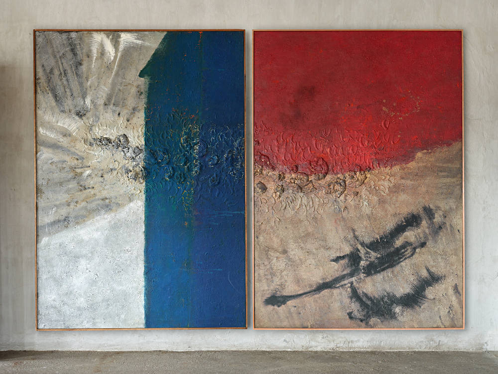 Ryuji Tanaka, Sei (12), 1963. Mineral pigment and mixed media on canvas 262.4 x 369 cm (103 1/4 x 145 1/4 in)