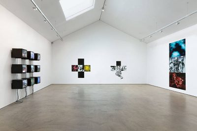 From GalleriesNow.net - Gretchen Bender: Living with Pain @Wilkinson, London