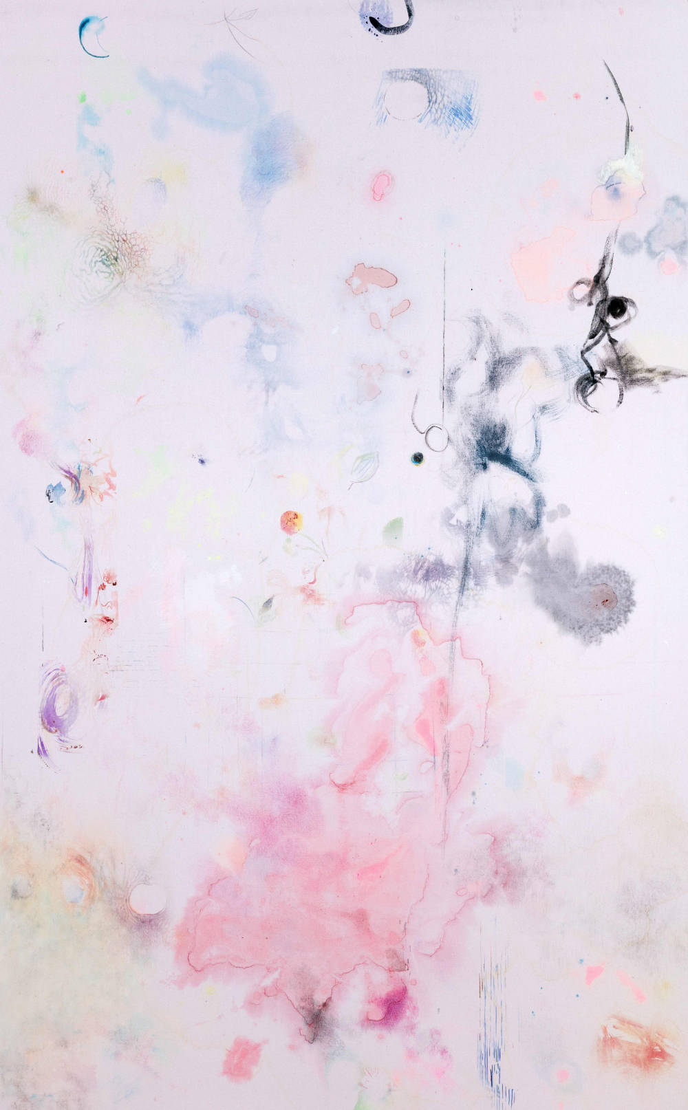 Anna Klimentchenko, Untitled 2, 2016, mixed water-based media on fabric, 240x150cm