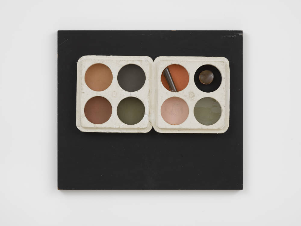 Audrey Barker, A Box for Nicholas Roberts, 1967. Mixed media 53.3 x 45.7 x 4 cm 21 x 18 x 1 5/8 in