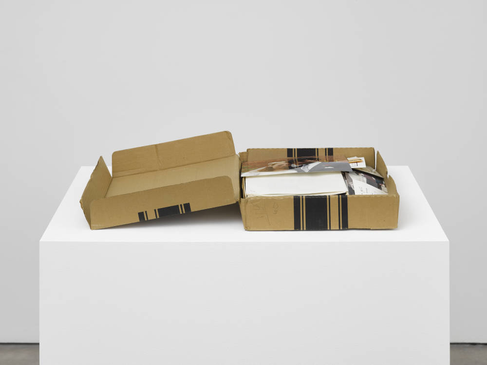 Laurie Parsons, Box of Photos, 1991. Assorted materials 14 x 43.2 x 68.6 cm 5 1/2 x 17 x 27 in