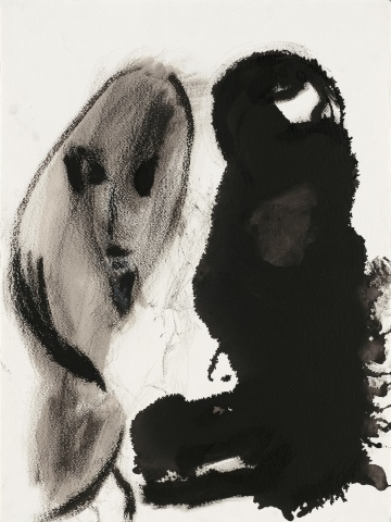"Don Van Vliet, ""Untitled"", 1987. India ink, gouache on paper 30 x 22 1/2 inches"