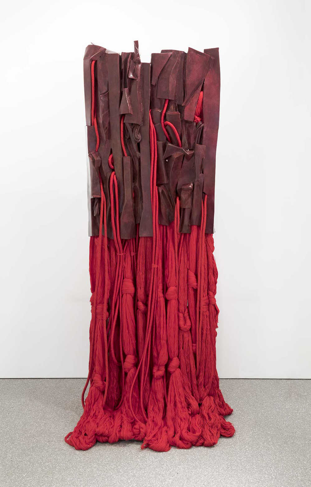 Barbara Chase-Riboud (b.1939), Malcolm X #16, 2016. Red patina bronze and silk 92