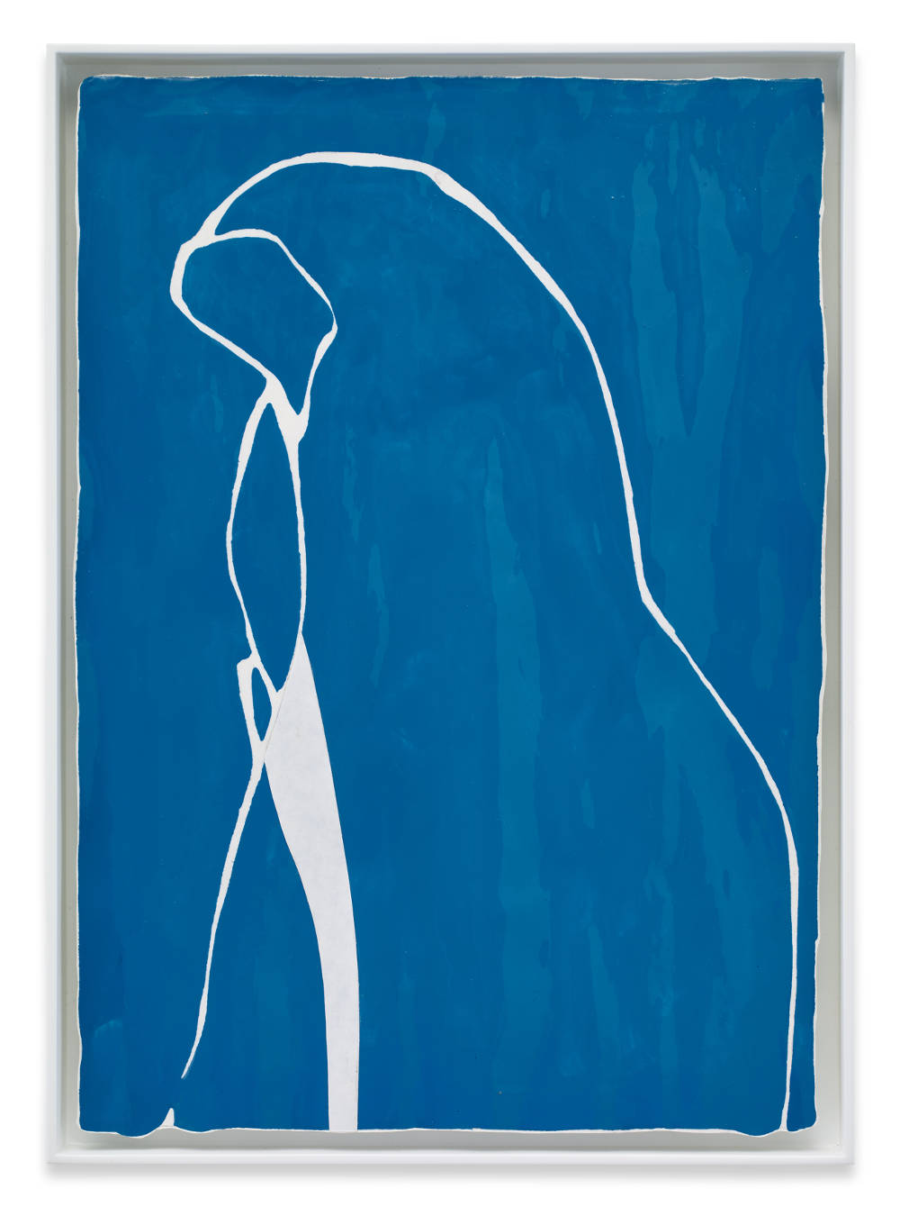 Gary Hume, Blue Nun, 2015. Gloss paint on paper 30,3 x 21,2 cm / 12 x 8 3/8 inches / 32,5 x 23,8 cm (framed) / 12 7/8 x 9 3/8 inches (framed) © Gary Hume / DACS, London, 2017. Courtesy of the artist, Sprüth Magers and Matthew Marks Gallery