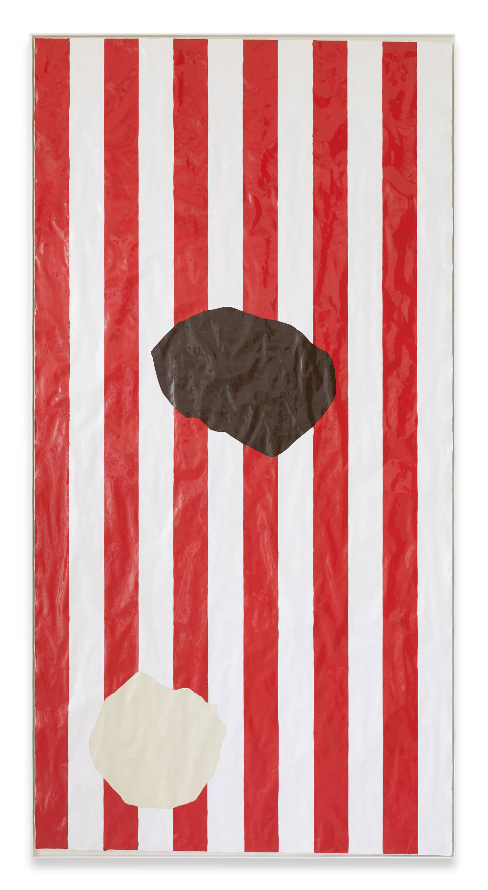 Gary Hume, Cheap Sweets, 2016. Gloss paint on paper 206,5 x 106 cm / 81 1/4 x 41 3/4 inches © Gary Hume / DACS, London, 2017. Courtesy of the artist, Sprüth Magers and Matthew Marks Gallery