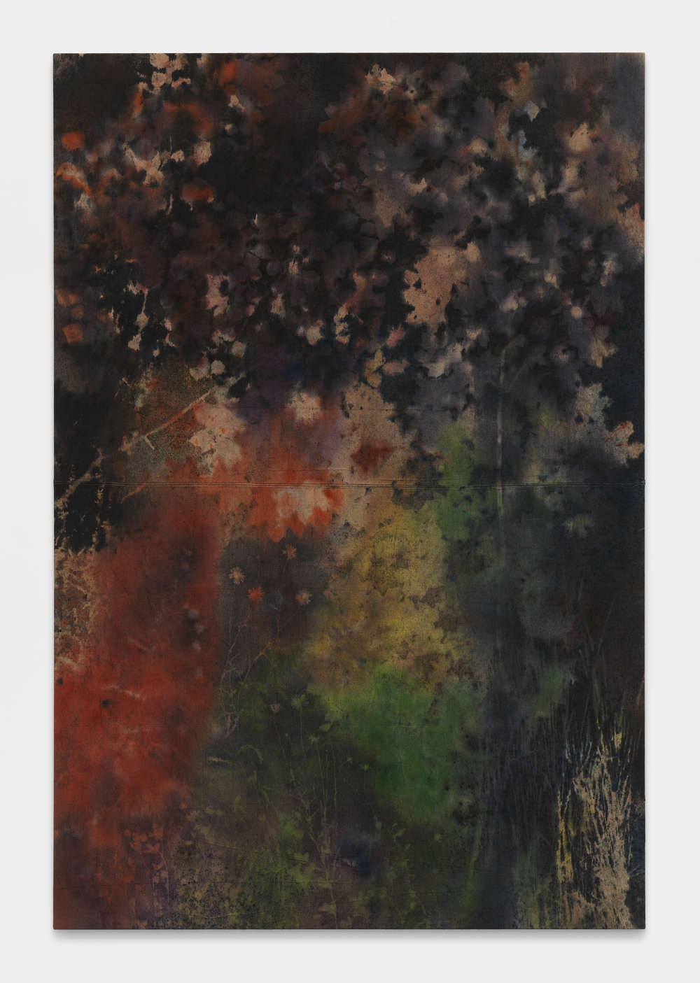 SAM FALLS, Untitled (Bovina, N.Y., field to forest 2), 2017. Pigment on canvas 233.5 x 157.5 cm / 92 x 62 inches