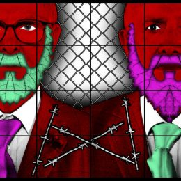 Gilbert & George, THE BEARD PICTURES @Lehmann Maupin 22nd St, New York  - GalleriesNow.net