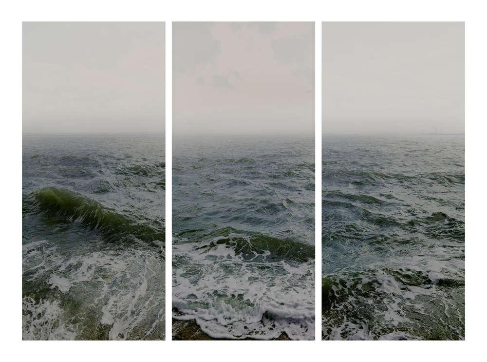 Nadav Kander, Water I part 1,2&3, (Shoeburyness towards The Isle Of Grain), 2015