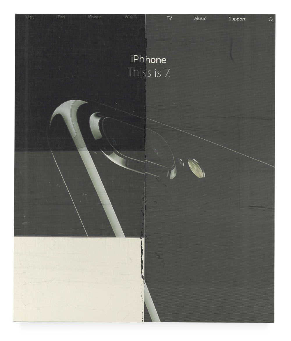 Wade Guyton, Untitled, 2016, Epson UltraChrome K3 inkjet on linen, 325 x 275 cm, © Wade Guyton, Courtesy of the artist, Photography: Ron Amstutz