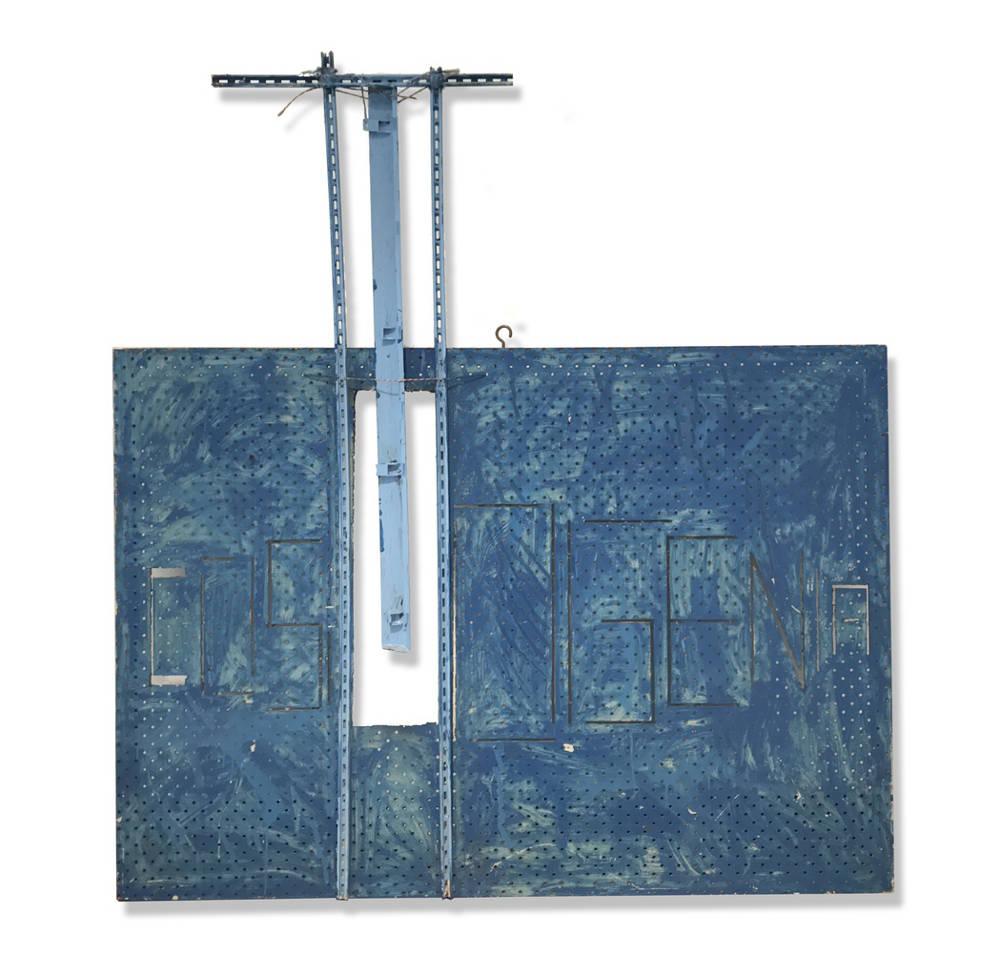 STANO FILKO, Cosmogenia, c.1990. Assemblage 150 x 140 cm 59 x 55 in