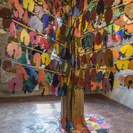 Sabrina Mezzaqui: Autobiografia del rosso @Galleria Continua San Gimignano, Siena  - GalleriesNow.net