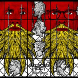 Gilbert and George: THE BEARD PICTURES @Galerie Thaddaeus Ropac, Pantin, Paris  - GalleriesNow.net
