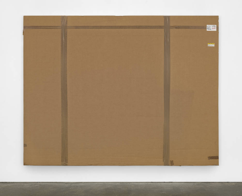 Merlin Carpenter, After John Hoyland 20.4.66, 2009, 2017. Cardboard, plastic and acrylic on on canvas 230 x 299 x 5.5 cm (90 1/2 x 117 3/4 x 2 1/8 in.) Courtesy of the artist and Simon Lee Gallery