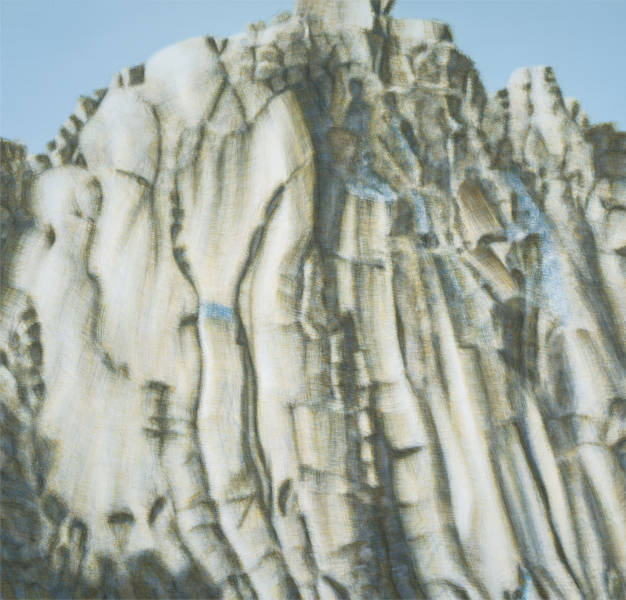CHUNG Zuyoung, Mountain Bukhan No.38, 2015. Oil on linen 200 x 210 cm
