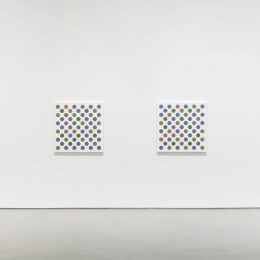 Bridget Riley: Measure for Measure. New Disc Paintings @Galerie Max Hetzler, r. du Temple, Paris  - GalleriesNow.net