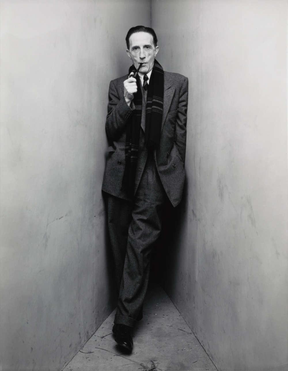 Irving Penn, Marcel Duchamp (1 of 2), New York, 1948. Gelatin silver print, made 1984. Image Dimensions: 24,4 x 19,4 cm (9,625 x 7,625 in) © The Irving Penn Foundation