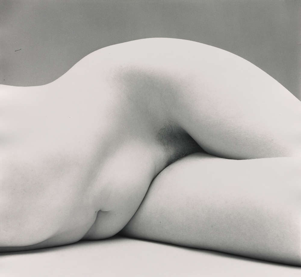 Irving Penn, Nude No. 62, New York, c. 1949-1950. Vintage gelatin silver print, made c. 1949-1950. Image Dimensions: 37,8 x 38,4 cm (14,875 x 15,125 in) © The Irving Penn Foundation