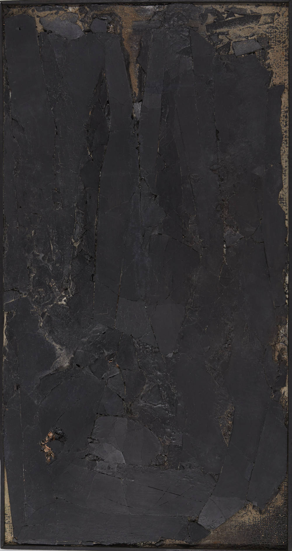 ROBERT MALLARY, Untitled, 1957-1958. Mixed media: Found materials, resin and pigment mixture on board 44 1/2 x 23 1/2 x 2 in 113 x 59.7 x 5 cm