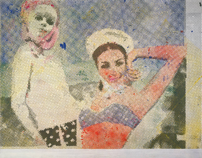 Sigmar Polke, Freundinnen (Girlfriends), 1965/1966, 