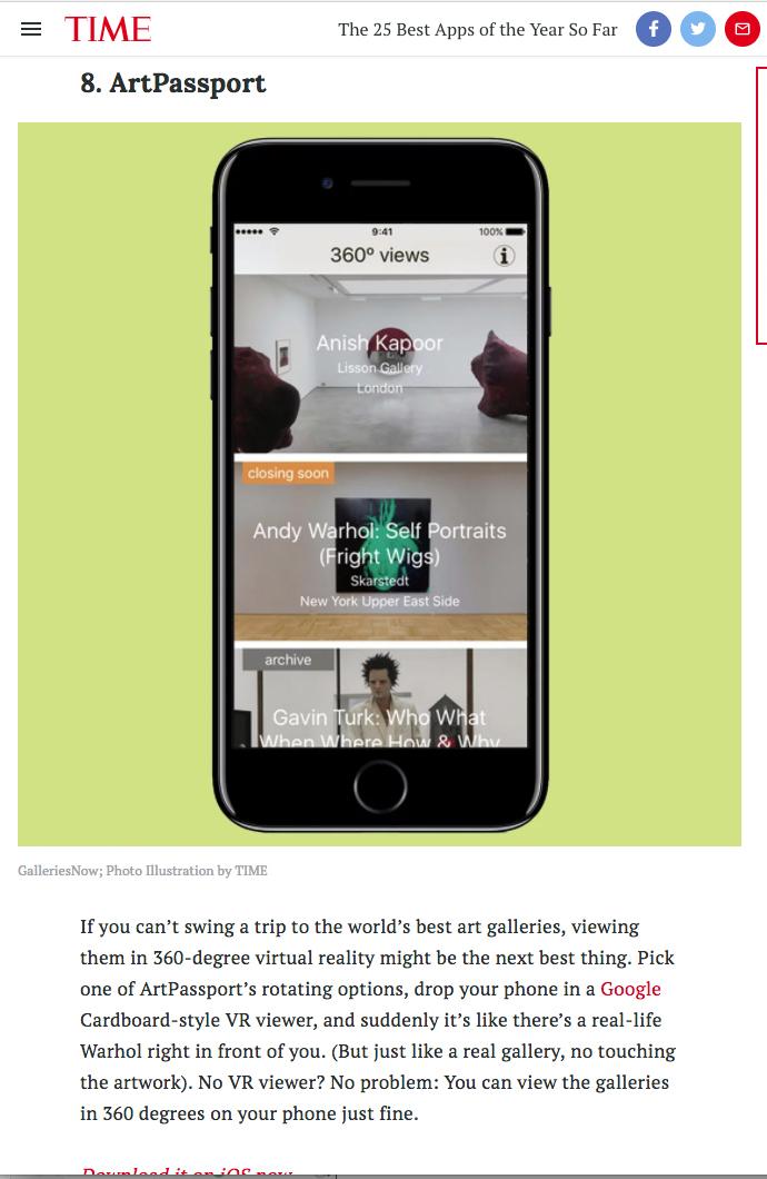 TIME ArtPassport article