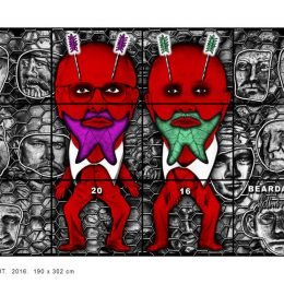 Gilbert & George: THE BEARD PICTURES @Bernier/Eliades, Athens  - GalleriesNow.net