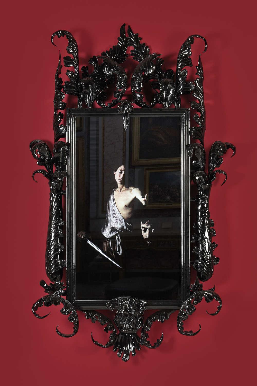 Mat Collishaw, Black Mirror, Hydrus, 2014. 260 x 160 x 40 cm 102 3/8 x 63 x 15 3/4 in. Edition 1 of 2 + 1 AP
