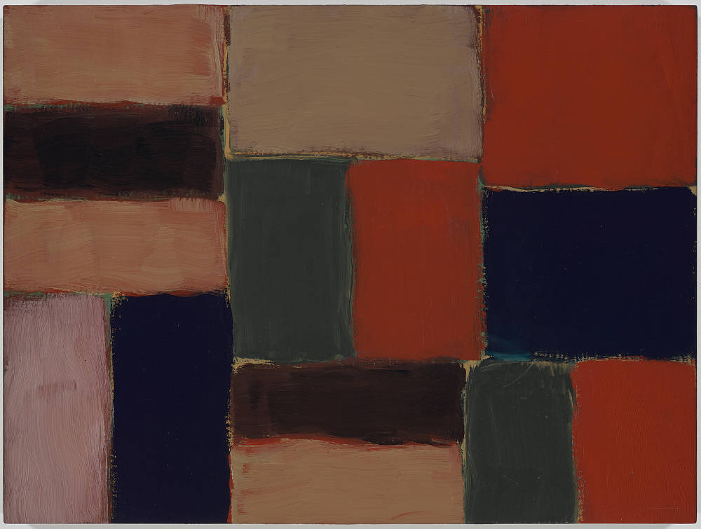 Sean Scully, Small Barcelona Sand Wall, 2004. Oil on linen 24 x 32 inches (60.4 x 80.9 cm) Artwork © 2004 Sean Scully