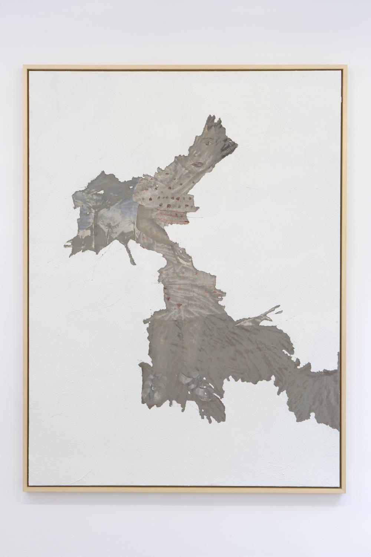 LatifaEchakhch, LesFigures, 2018. Canvas, concrete, painting 206 x 156 x 3 cm ©LatifaEchakhch. Photo. archiveskamelmennour. Courtesy the artist and kamelmennour, Paris/London
