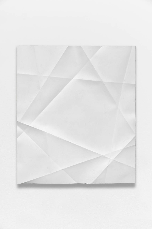 Beat Zoderer, Penta Guss, 2018. Plaster and acrylic 45,7 x 39,9 cm. Courtesy Semiose galerie, Paris. Photo : A. Mole