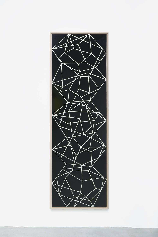 Beat Zoderer, Pentazeichnung 01, 2018. Acrylic on wood 184 x 60,7 cm. Courtesy Semiose galerie, Paris. Photo : A. Mole