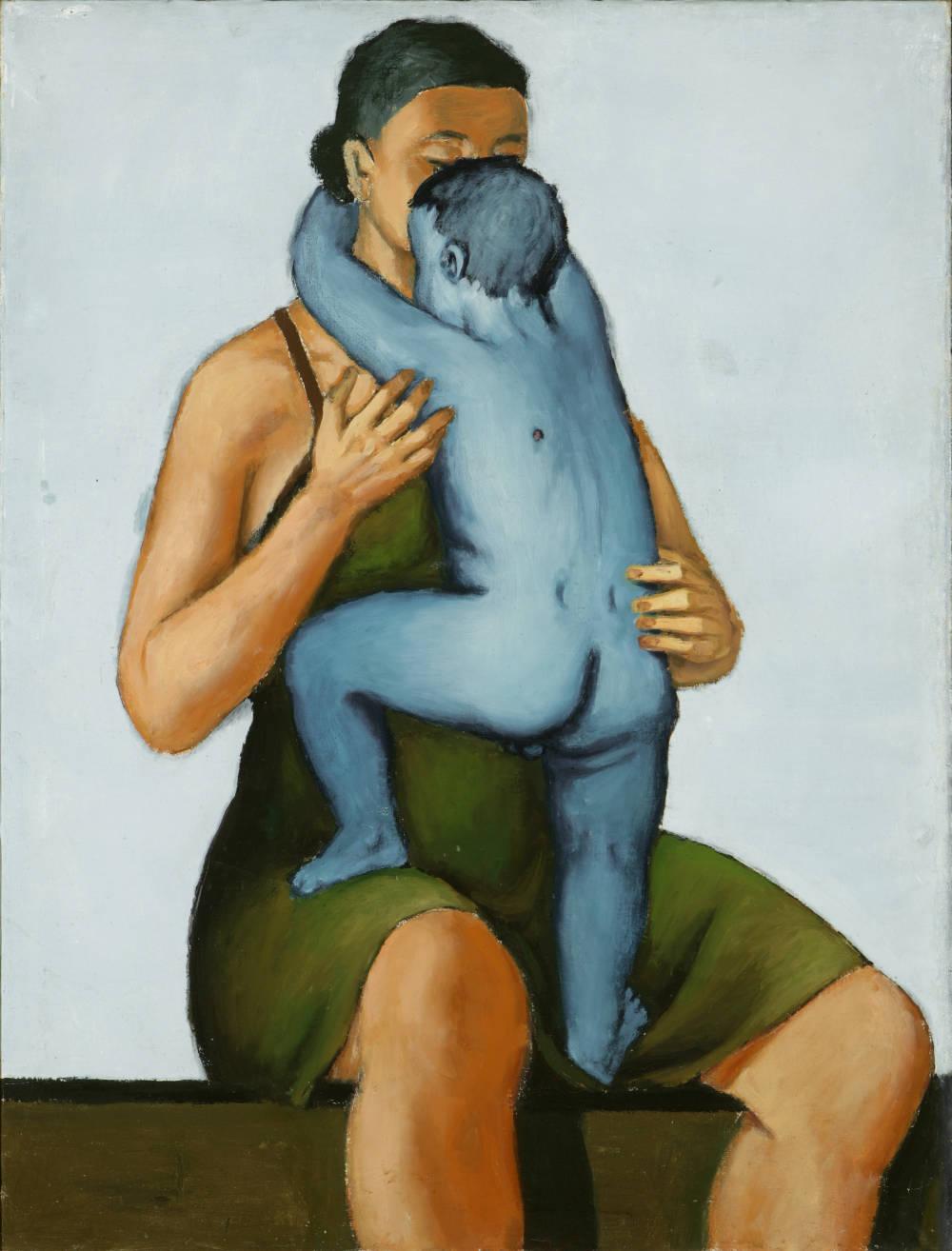 Andrzej Wróblewski, Mother with Dead Child, 1949. Oil on canvas 120 x 90 cm. Collection of Grazyna Kulczyk ©Andrzej Wróblewski Foundation