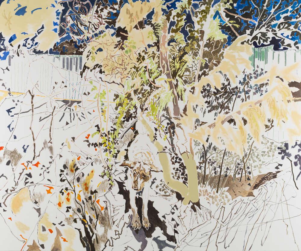 Chris Huen Sin Kan, MuiMui, 2018. Oil on canvas 200 x 240cm (78 3/4 x94 1/2 in)
