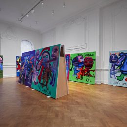 Bjarne Melgaard: Bodyparty (Substance Paintings) @Galerie Thaddaeus Ropac, London, London  - GalleriesNow.net